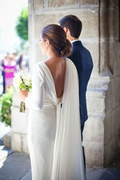 bride dress for winter wedding