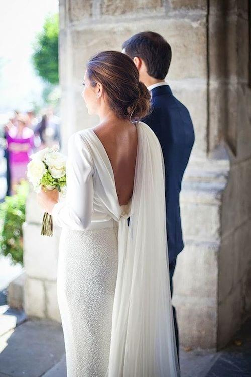 bride dress for winter wedding