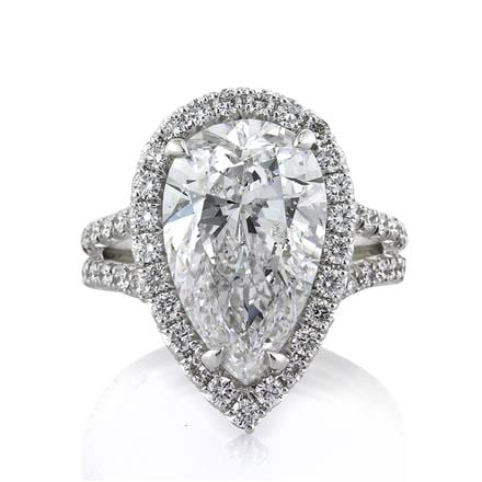 Mark Broumand Pear Engagement Ring
