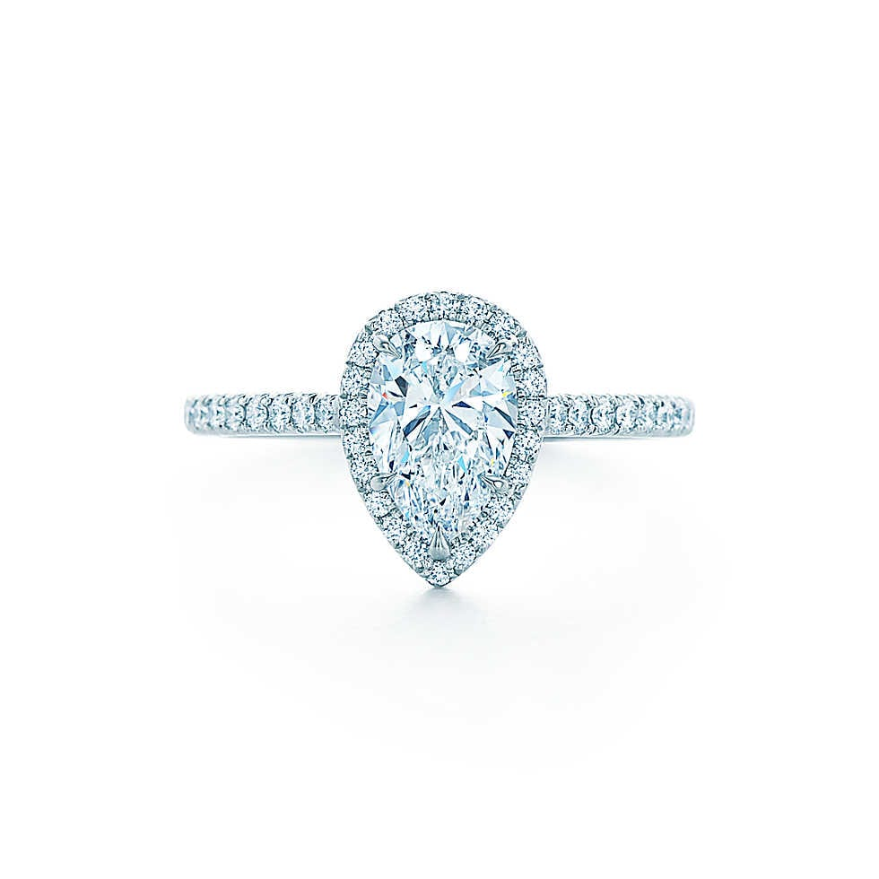 Friday quotrocksquot featuring tiffany co the yes girls for Wedding band for teardrop engagement ring