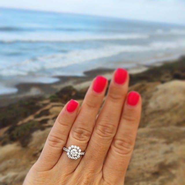 Engagement ring selfie