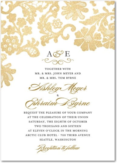 Wedding paper divas anniversary sale the yes girls lace foil wedding invitation junglespirit Choice Image