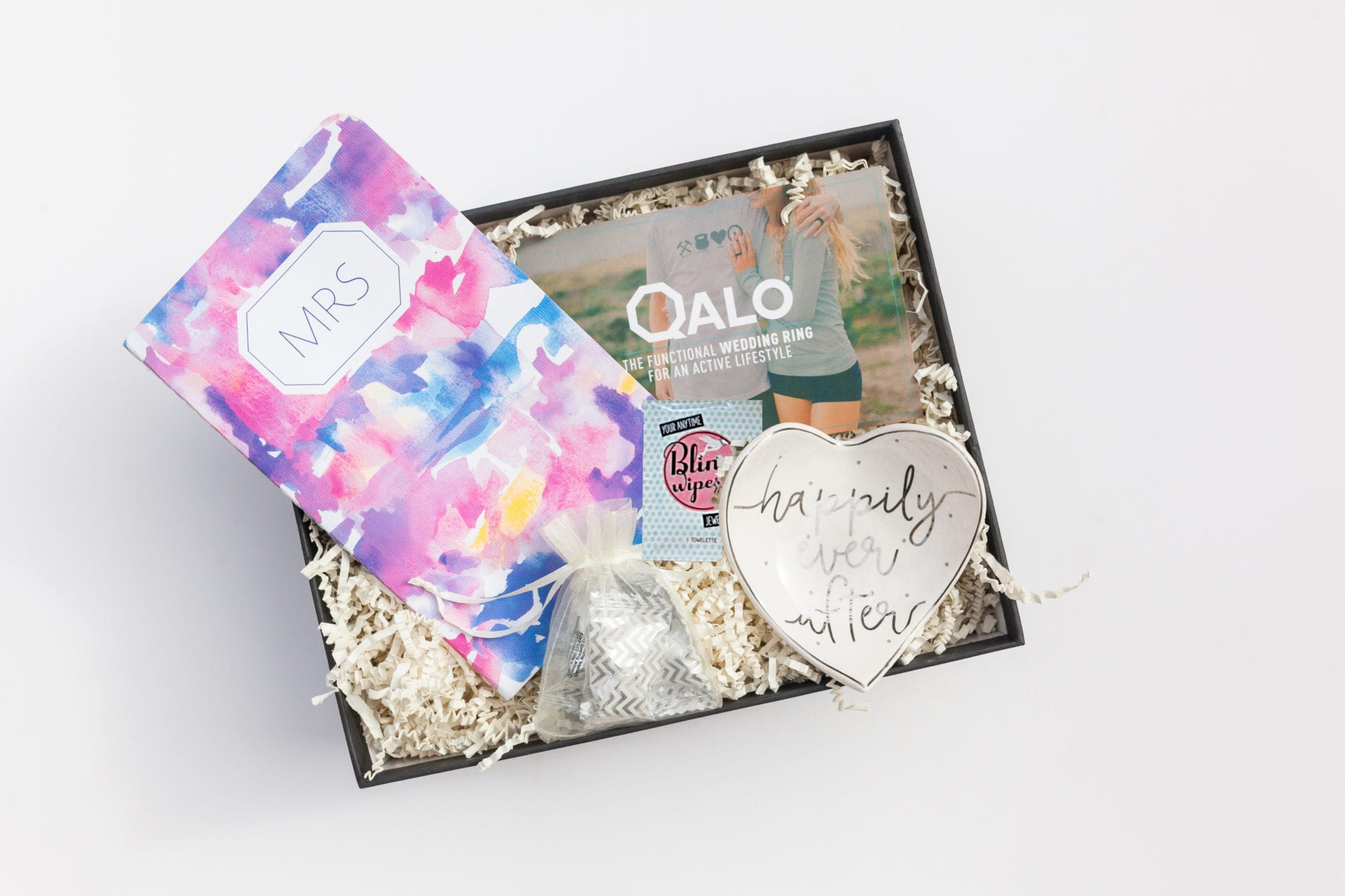 just engaged gift box for your best friend
