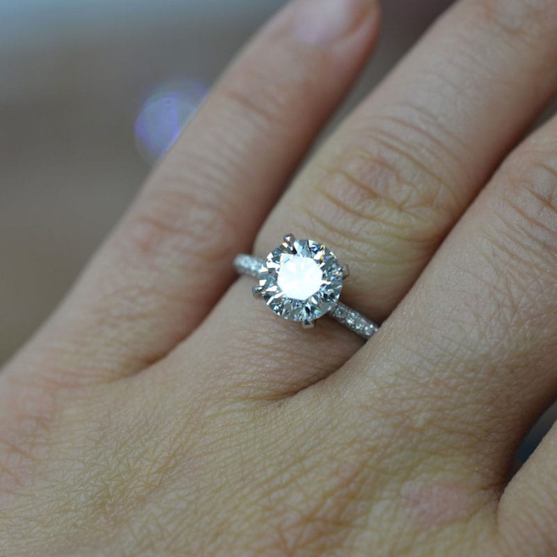 ID Jewelry Solitaire Engagement Ring