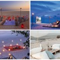 romantic sunset beach picnics