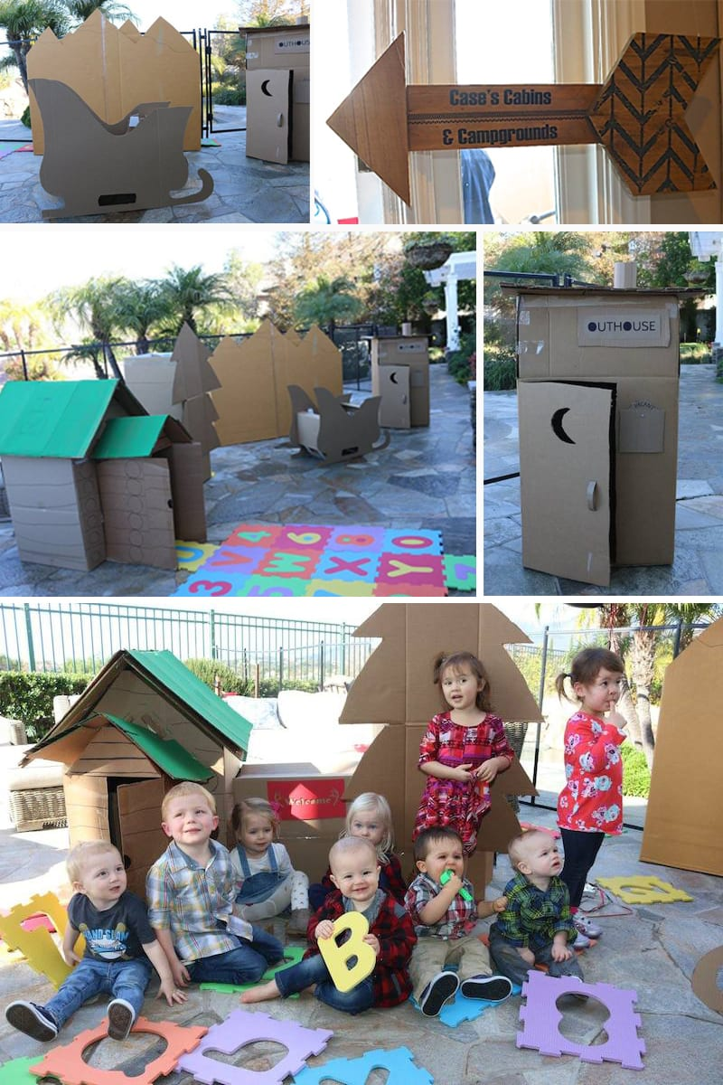 cardboard cabins birthday by the yes girls