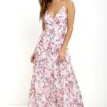 pink flower maxi dress for wedding guest