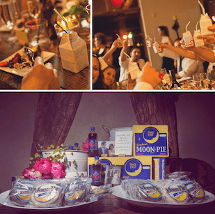 moonpie bar at a wedding