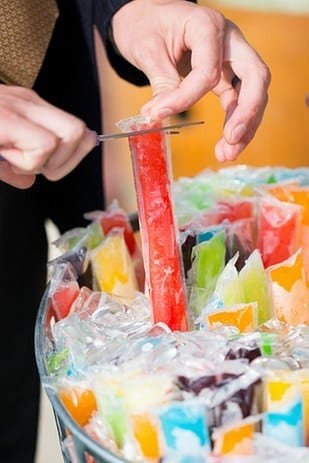 popsicle bar at a wedding