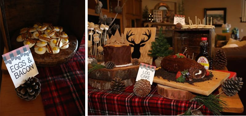 lumberjack birthday dessert table by the yes girls