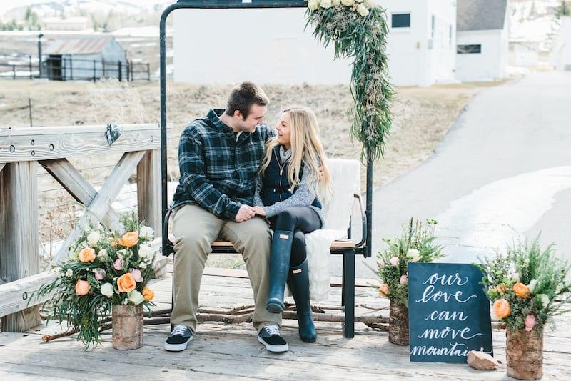 Park City White Barn Wedding Proposal