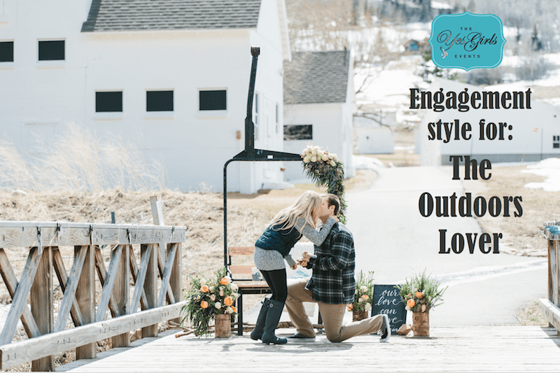 incorporate great outdoors into wedding proposal
