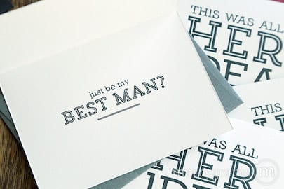 just be my best man already