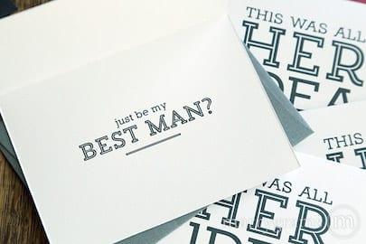 just be my best man already