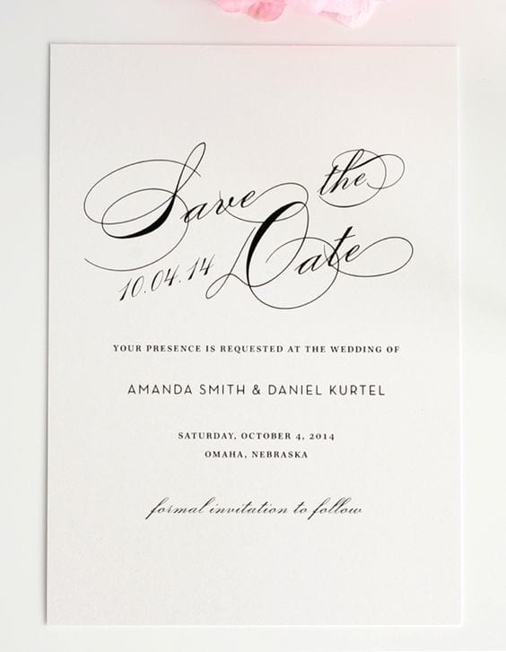 ideas for a wedding save the date card