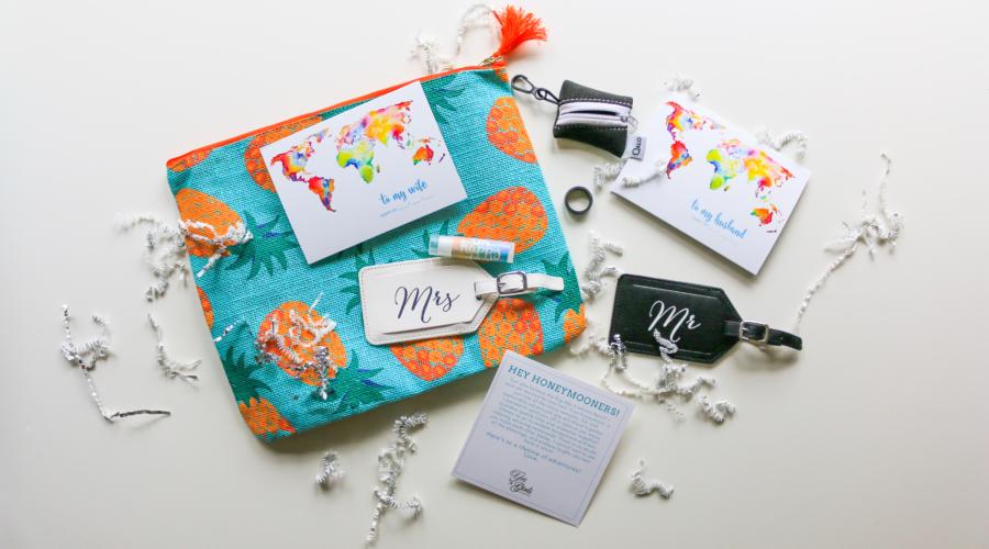 best honeymoon gift box for bride and groom