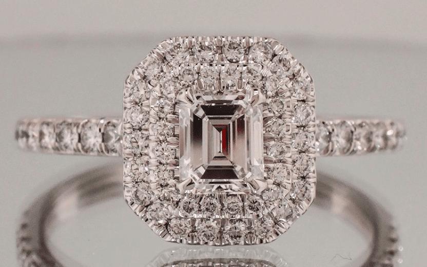 Josh Levkoff Double Halo Ring