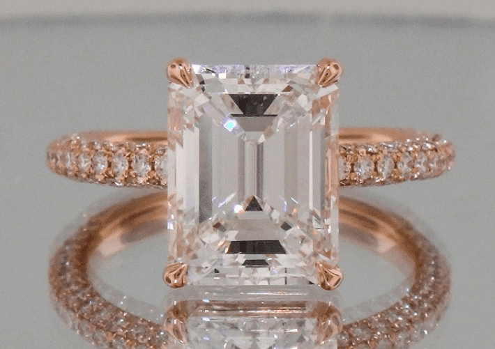 Josh Levkoff Emerald Rose Gold Ring