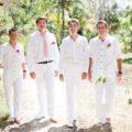All White Groomsmen Attire for theme wedding