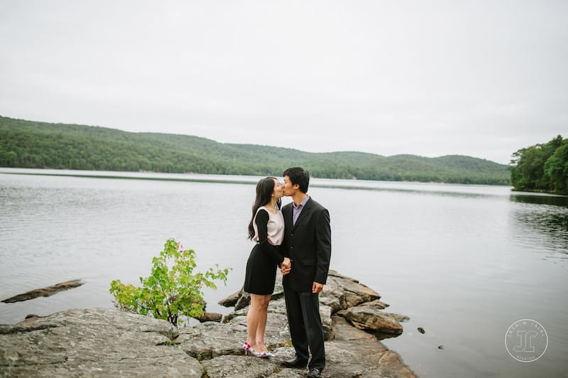 upstate lake marriage proposal