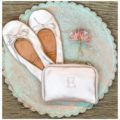 monogram ballet flats with carrying case