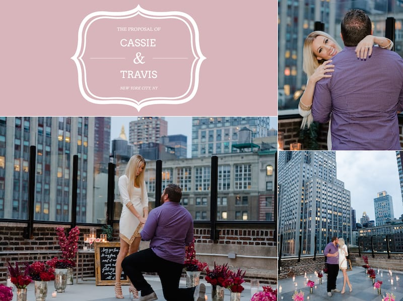 New York City Rooftop Romantic Proposal The Yes Girls