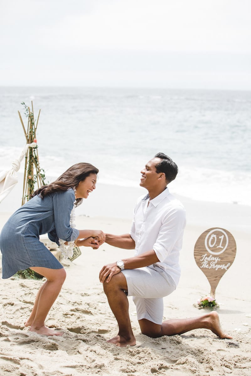 Laguna Boho Chic Beach Wedding Proposal
