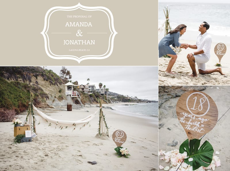 Shabby Chic Beach Proposal