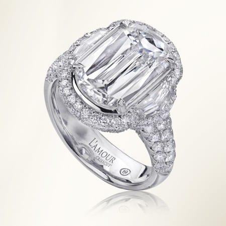 L'Amour Crisscut Ring