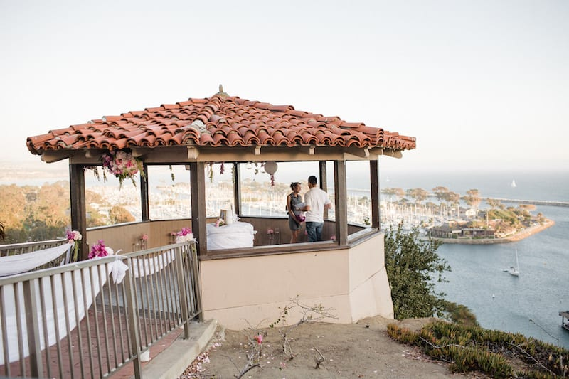 gazebo in socal marriage proposal