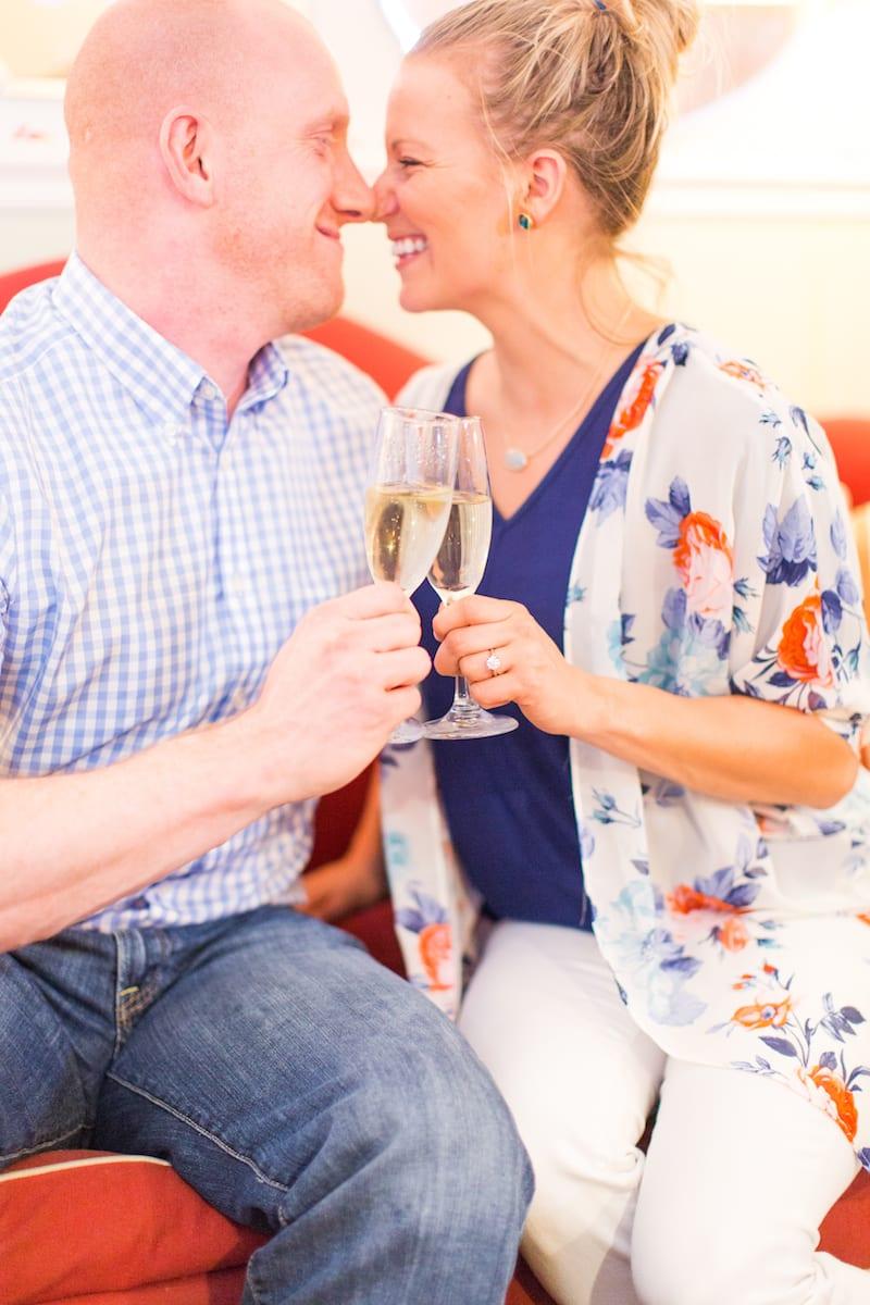 engaged couple washington dc