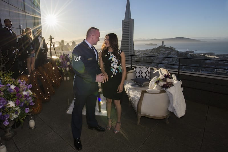 hotel balcony marriage proposal
