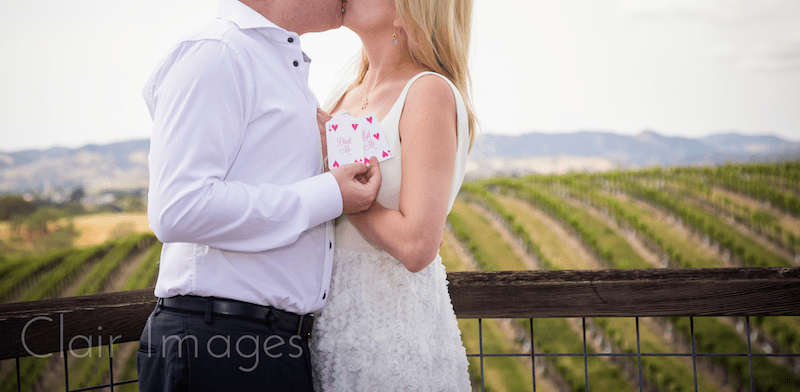winery in California marriage proposal