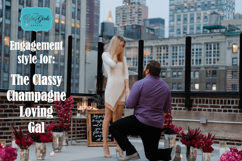 wedding proposal for over the top glamorous woman