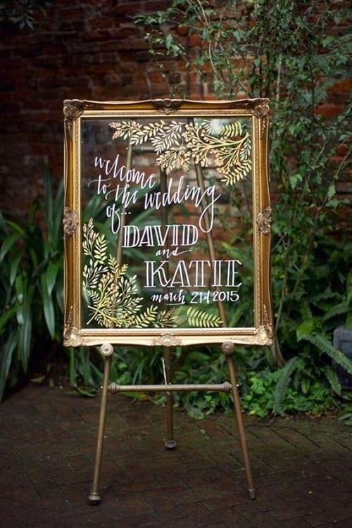 Unique DIY Wedding Sign