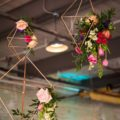 gold geometric wedding decor