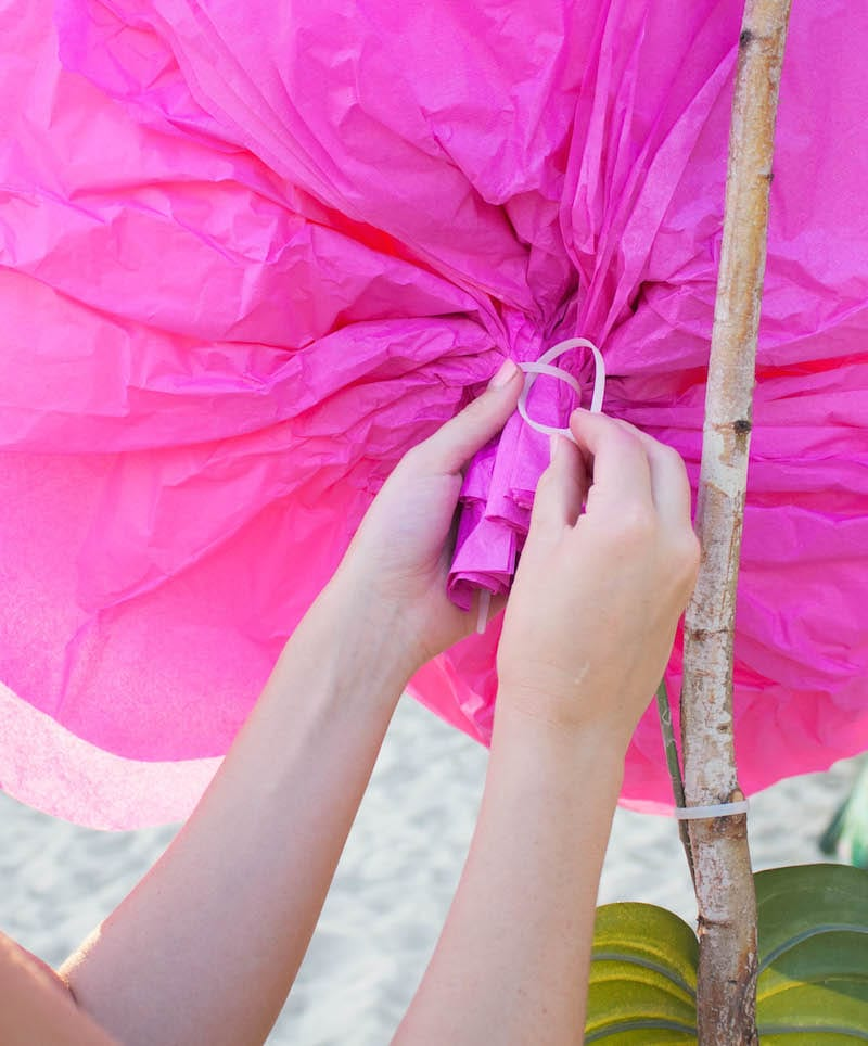 tutorial on how to create tissue paper flowers