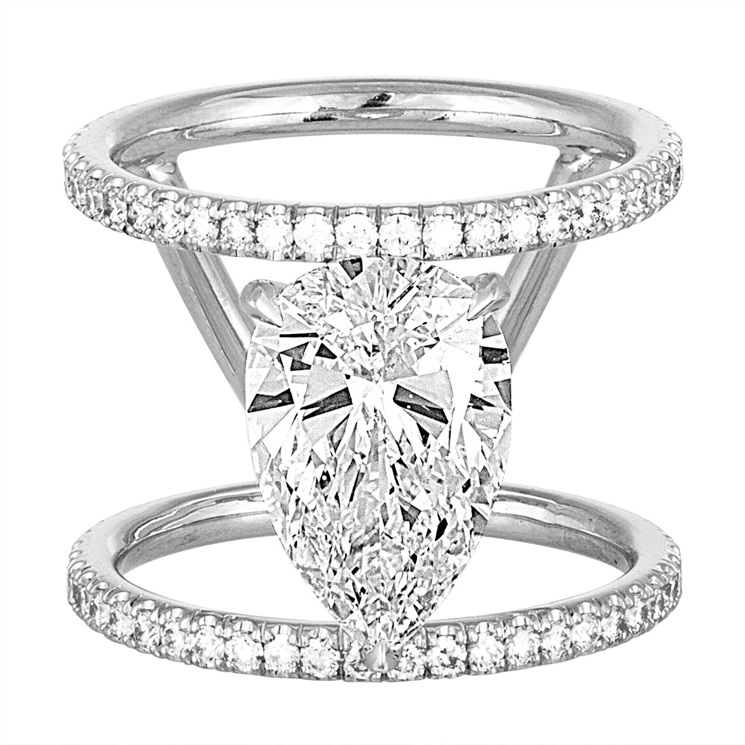 diamond ctw antique rings engagement halo vintage k miadonna settings caymancode white gold ring in