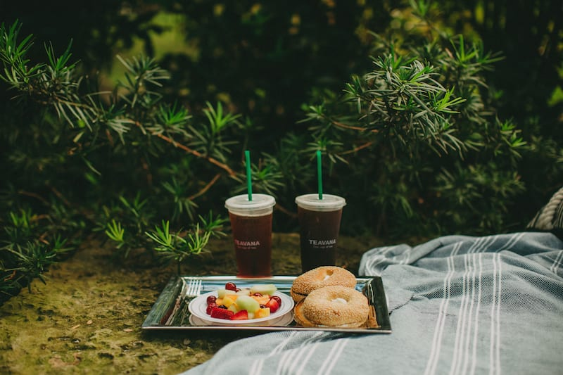 starbucks and fruit picnic proposal