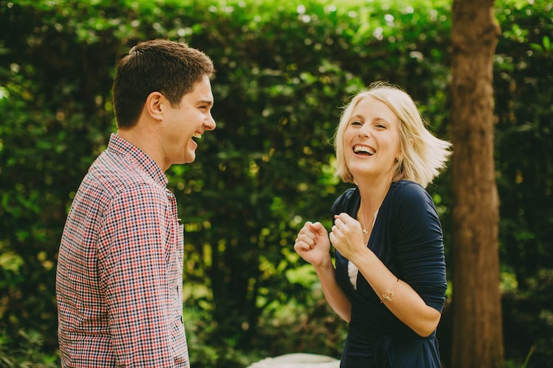couple excited after engagement