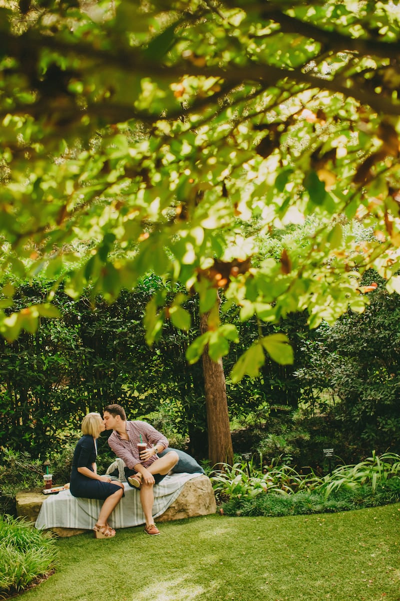 dallas wedding proposal at arboretum