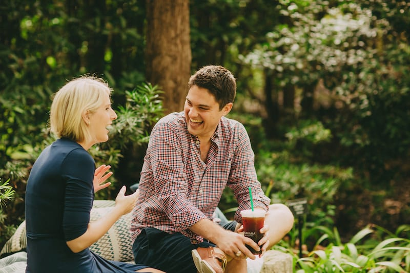 garden picnic proposal in dallas