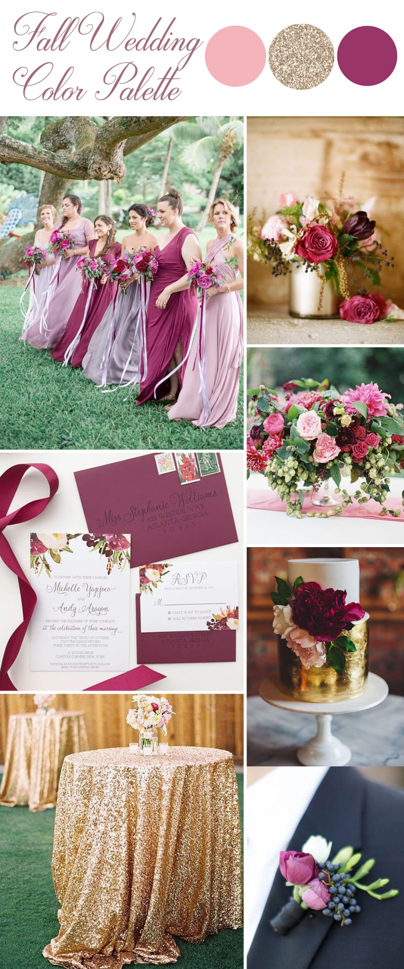 fall wedding color inspirations