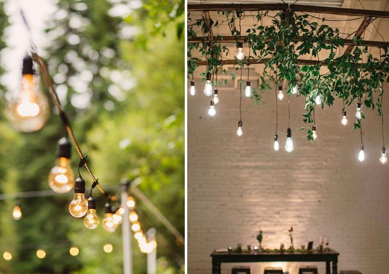 Edison bulbs instead of market lights