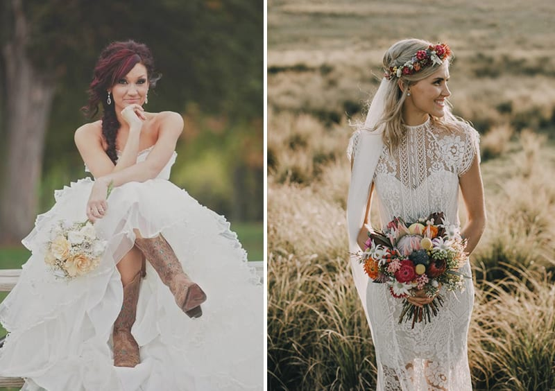 flower crown instead of cowboy boots