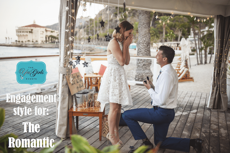 wedding proposal for the classic romance girl