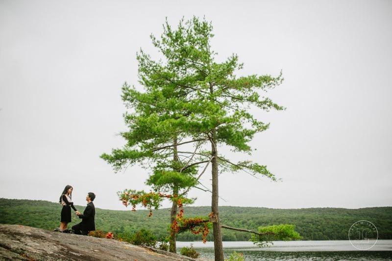 wedding proposal with autumn theme