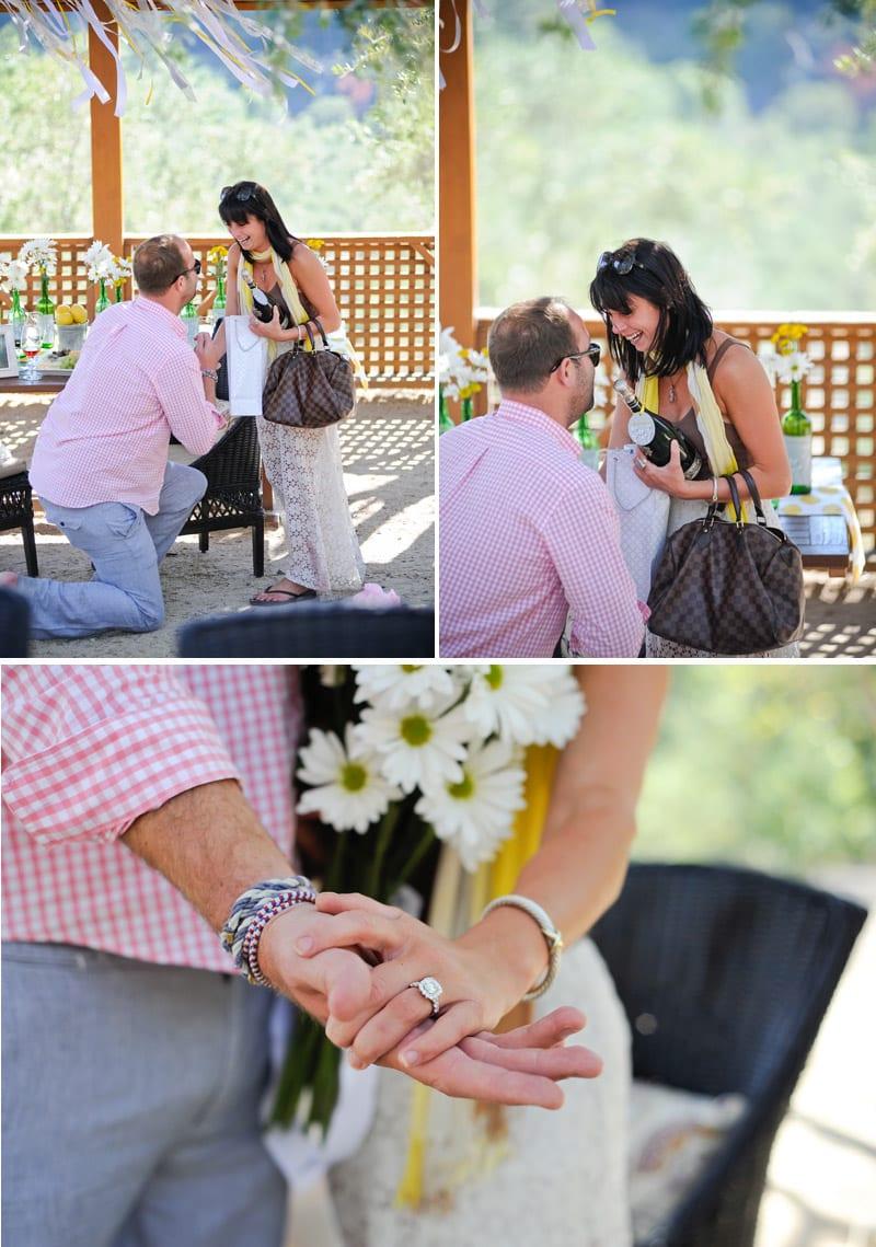fall proposal at napa winery