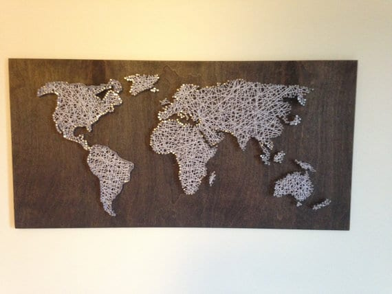 travel theme string art