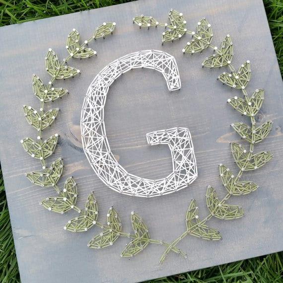 monogram wreath string art